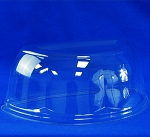 "10.25"" Half Cake Container Dome Clear Lid 200/case"