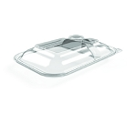 36 oz 3 Compartment Clear Dome Lid EPI-3C-Lid