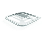 48 oz 2 Compartment PET Lid EPI-FS-92C-L