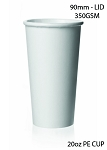 20 oz. White Poly Paper Hot Cup - 500/Case